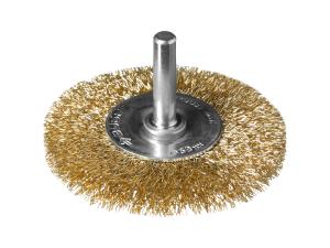 Зачистная щетка для дрели дисковая витая Зубр d=63 мм