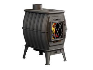 Печь-камин отопительно-варочная, черная ПроМеталл Бахта