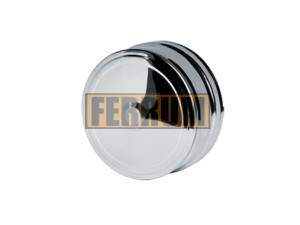 Заглушка внешняя д/трубы, 430/0,5 мм, Ф115, нижняя Ferrum