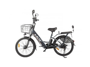 Электровелосипед (велогибрид) серебристый Eltreco GREEN CITY e-ALFA new