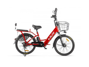 Электровелосипед (велогибрид) красный Eltreco GREEN CITY e-ALFA new